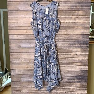 NWT Lane Bryant Floral Fir & Flare Midi Dress